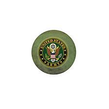 Army Seal Green Grunge Mini Button