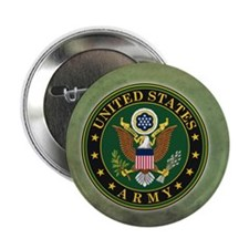 "Army Seal Green Grunge 2.25"" Button (100 pack)"
