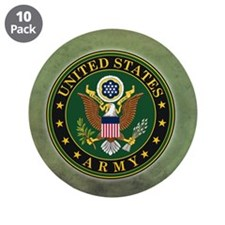 """Army Seal Green Grunge 3.5"""" Button (10 pack)"""