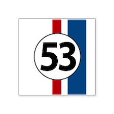 53 red and blue stripe Sticker
