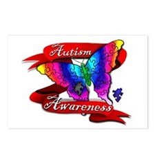 Autism Awareness Butterfly Design Postcards (Packa