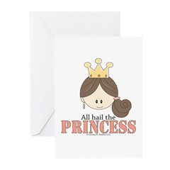 All Hail the Princess Greeting Cards (Pk of 10
