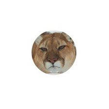 Big Faced Cougar Mini Button (100 pack)