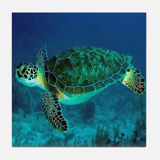 Ocean Turtle Tile Coaster