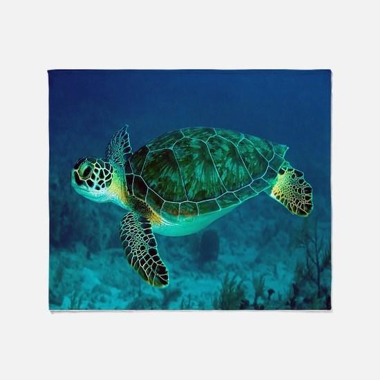 Ocean Turtle Throw Blanket