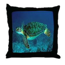 Ocean Turtle Throw Pillow