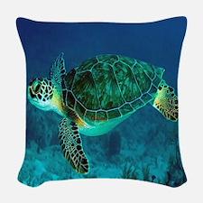 Ocean Turtle Woven Throw Pillow