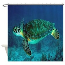 Ocean Turtle Shower Curtain