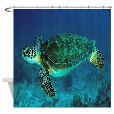 Ocean Turtle Shower Curtain