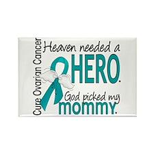 Ovarian Cancer Heaven Needed Hero Rectangle Magnet