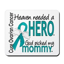 Ovarian Cancer Heaven Needed Hero 1.1 Mousepad