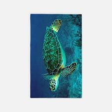 Ocean Turtle 3'x5' Area Rug