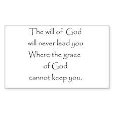 Gods will Gods Grace Rectangle Bumper Stickers