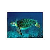 Sea turtle 5x7 Rugs