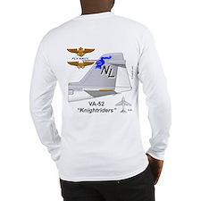 A-6 Intruder Va-52 Knightsquarelong Sleeve T-Shirt