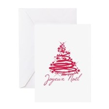 Joyeux Noël in Red Greeting Cards