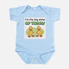 Big sister of twins - Ducks Infant Bodysuit