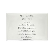 Jeremiah 29:11 Rectangle Magnet