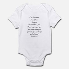 Jeremiah 29:11 Infant Bodysuit