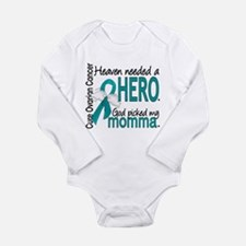 Ovarian Cancer Heaven Long Sleeve Infant Bodysuit