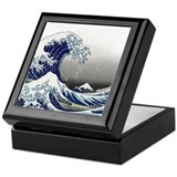 Great waves Square Keepsake Boxes