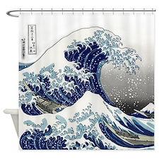 great wave of Kanagawa hokusai Shower Curtain