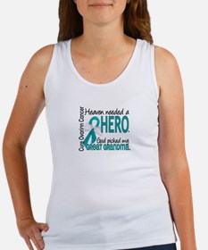 Ovarian Cancer Heaven Needed Hero Women's Tank Top