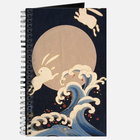 FULL MOON, WAVE, RABBITS Journal