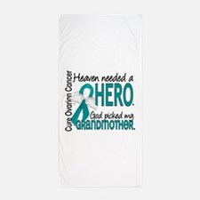 Ovarian Cancer Heaven Needed Hero 1.1 Beach Towel