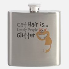 Cat Hair Is Lonely People GLITTER Ornage-01-01 Fla