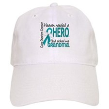 Ovarian Cancer Heaven Needed Hero 1.1 Baseball Cap