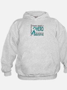Ovarian Cancer Heaven Needed Hero 1.1 Hoodie