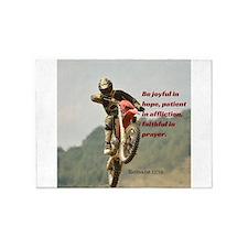 Motorcross Prayer 5'x7'Area Rug