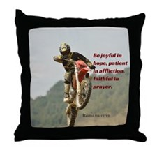 Motorcross Prayer Throw Pillow