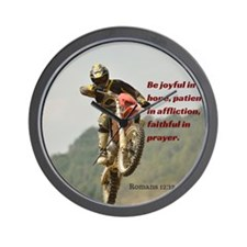 Motorcross Prayer Wall Clock