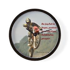 Motorcross Prayer Wall Clock