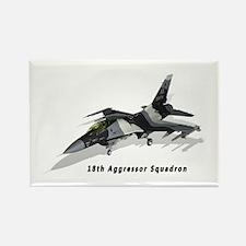 F-16C 18th AGRS Rectangle Magnet