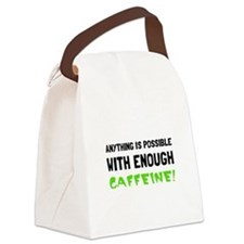 Anything Possible Caffeine Canvas Lunch Bag