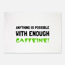 Anything Possible Caffeine 5'x7'Area Rug