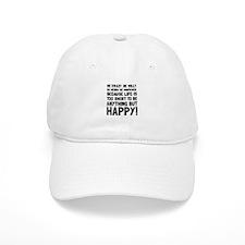 Be Happy Baseball Baseball Cap