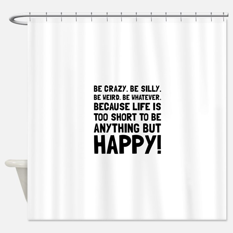 lifes too short shower curtains | lifes too short fabric shower