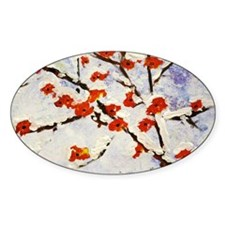 Plum blossom in snow Decal