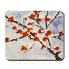 Plum blossom in snow Mousepad