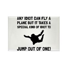 Idiot Skydiving Magnets