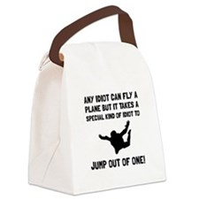 Idiot Skydiving Canvas Lunch Bag