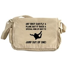 Idiot Skydiving Messenger Bag