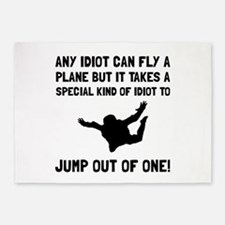 Idiot Skydiving 5'x7'Area Rug