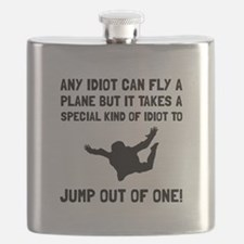 Idiot Skydiving Flask