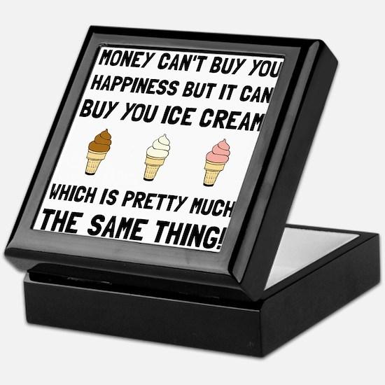Money Buy Ice Cream Keepsake Box