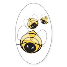 Killer Beez Oval Decal